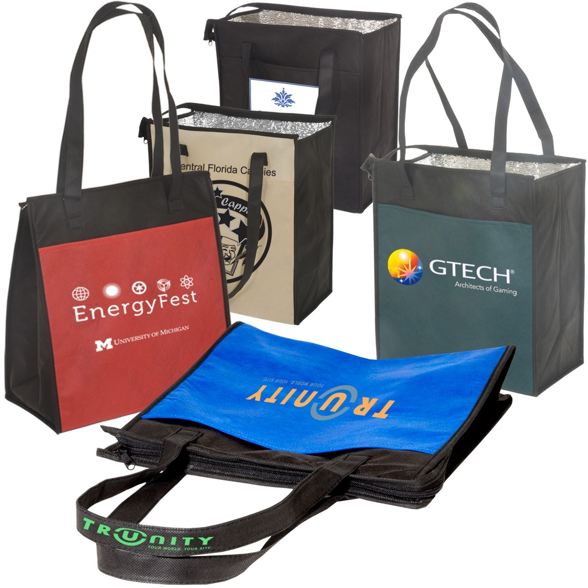 insulated grocery bag with logo