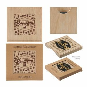 Wood Bottle Opener Coaster