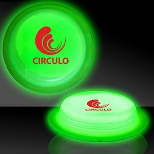 "3"" Circle Shaped Green Glow Badges"