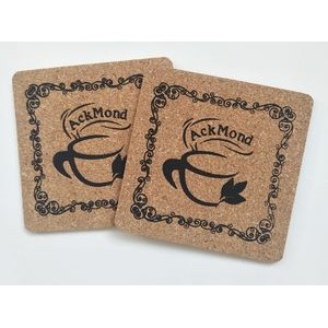 Custom Soft Square Wooden Cork Coaster